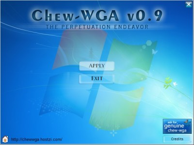 Активатор Windows 7 Ultimate - Chew-WGA 0.9
